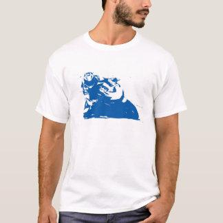 オートバイの青 Tシャツ
