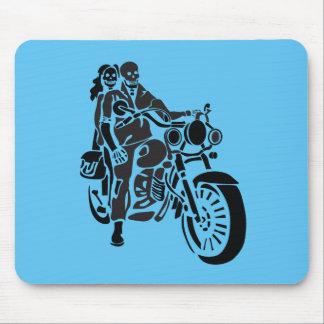 オートバイの骨組カップル マウスパッド