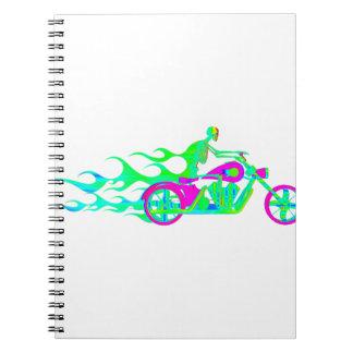 オートバイの骨組 ノートブック