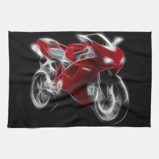 オートバイを競争させるスポーツのバイク キッチンタオル