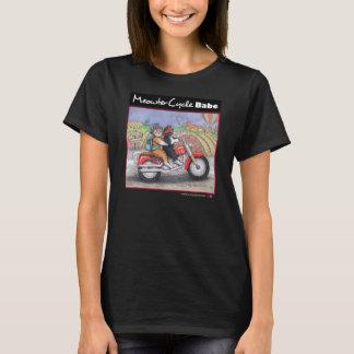 オートバイ猫の素晴らしいジャージーのTシャツ Tシャツ