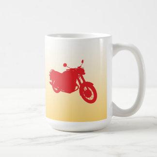 オートバイ: 輪郭のプロフィール: コーヒーマグカップ