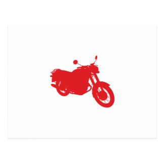 オートバイ: 輪郭のプロフィール: ポストカード
