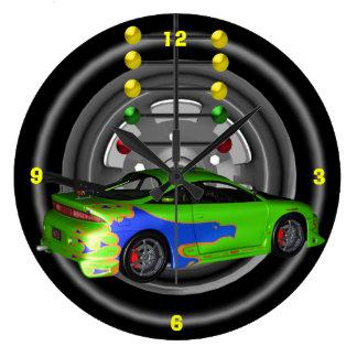 オートレースの柱時計 ラージ壁時計