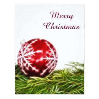 オーナメントおよびもみのフラクタル-メリークリスマス カード