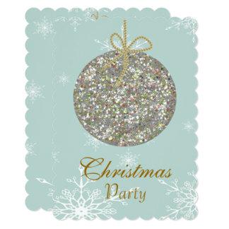 オーナメントおよび雪片を持つクリスマスの招待状 12.7 X 17.8 インビテーションカード