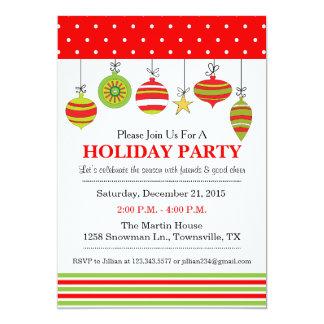 オーナメントのクリスマスか休日のパーティの招待状 カード