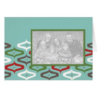 オーナメントのレトロの写真テンプレート グリーティングカード