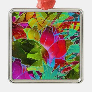 オーナメントの花柄の抽象芸術のアートワーク メタルオーナメント