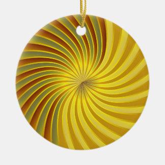 オーナメントの金ゴールドの螺線形渦 セラミックオーナメント
