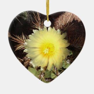 オーナメントの黄色いサボテンの花 セラミックオーナメント