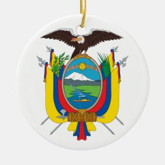 オーナメントエクアドルの紋章付き外衣 セラミックオーナメント