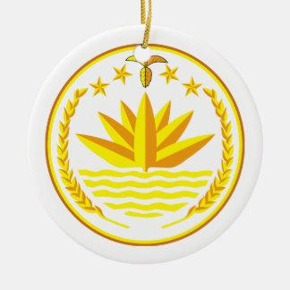 オーナメントバングラデシュの紋章付き外衣 セラミックオーナメント