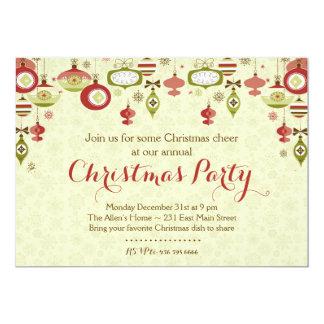 オーナメント交換Chrismasのパーティの招待状 カード