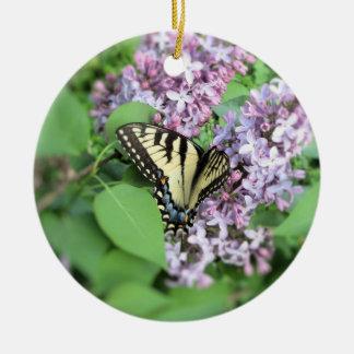 オーナメント-と薄紫のアゲハチョウ セラミックオーナメント