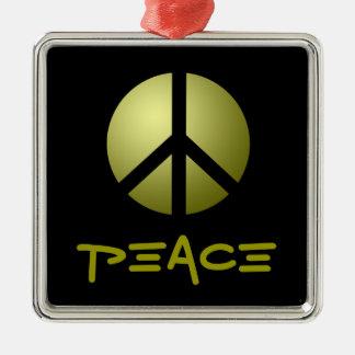 オーナメント、平和、金ゴールド メタルオーナメント