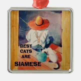 オーナメント-最も最高のな猫はシャムです メタルオーナメント