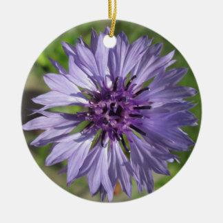 オーナメント-薄紫か紫色の独身のボタン セラミックオーナメント