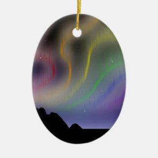 オーナメント: 虹のNorthern Lights セラミックオーナメント