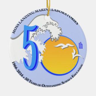 オーナメント: MLML第50の円形の波か太陽 セラミックオーナメント
