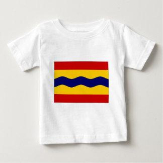 オーファーアイセル州のネザーランド旗 ベビーTシャツ