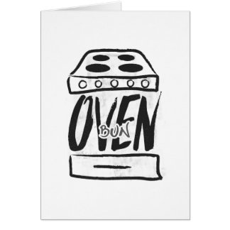 オーブンのパン-妊娠の発表カード カード