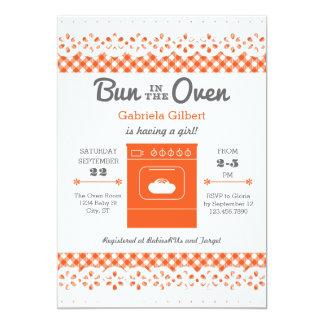 オーブンのユニセックスなベビーシャワーの招待状のパン カード