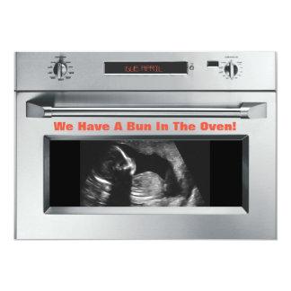 オーブンの妊娠の発表のパン カード