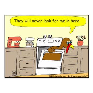 オーブンの漫画の367七面鳥 ポストカード