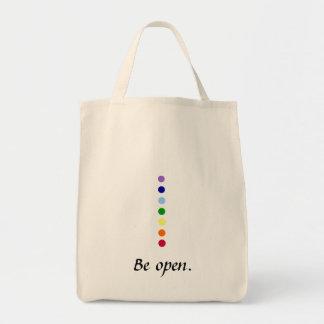 オープンのチャクラの環境に優しい買い物袋があって下さい トートバッグ