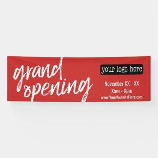 オープン広告-ロゴおよび詳細を加えて下さい 横断幕