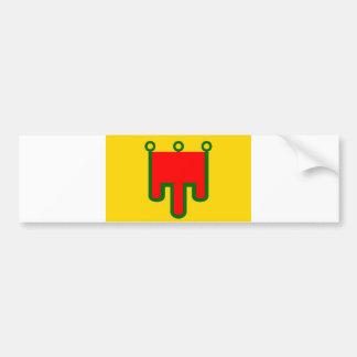 オーベルニュ山地の旗のフランスのな地域のフランスの国 バンパーステッカー