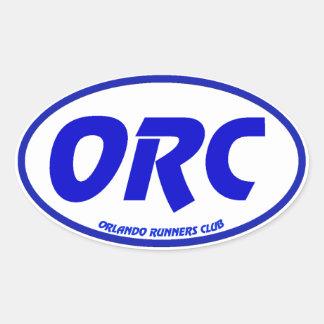 オーランドのランナークラブユーロのデカール 楕円形シール