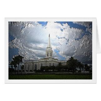 オーランドの寺院のエンボス カード