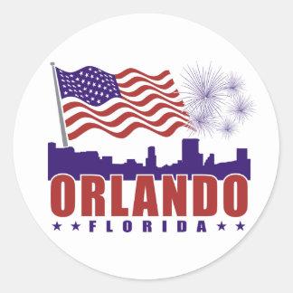 オーランドフロリダの愛国心が強いステッカー ラウンドシール