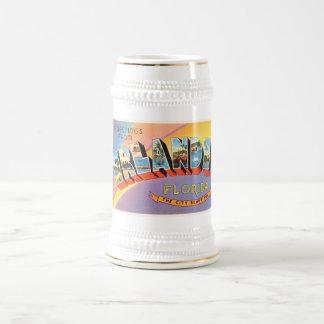 オーランドフロリダFLの古いヴィンテージ旅行記念品 ビールジョッキ