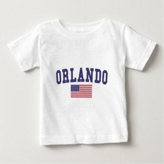 オーランド米国の旗 ベビーTシャツ