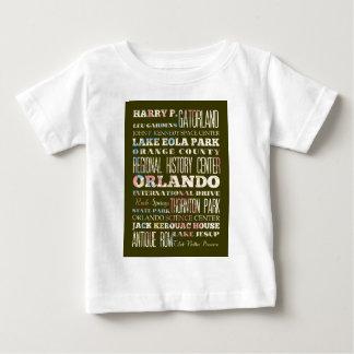 オーランド、フロリダの魅力そして有名な場所 ベビーTシャツ