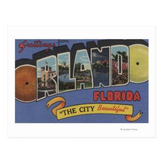 オーランド、フロリダ-大きい手紙場面 ポストカード