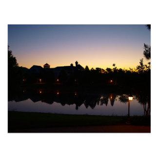 オーランド、屋上上のフロリダの日の出Silouette ポストカード