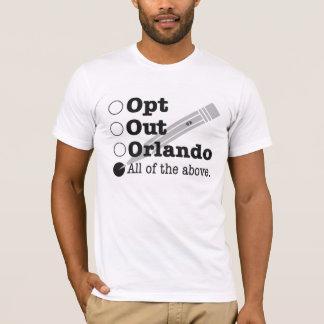 オーランド-市民的不服従--は選択します Tシャツ