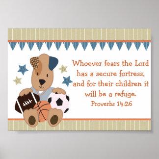 オールスター子犬のキリスト教の聖書の詩ポスター ポスター