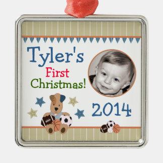 オールスター子犬の赤ん坊の初めてのクリスマスのオーナメント メタルオーナメント