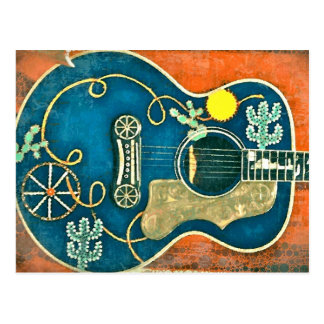 オーレ西部のギターの郵便はがき ポストカード
