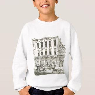 オーロラのイリノイのオーロラ標識のニュース1871の石造りのLith スウェットシャツ