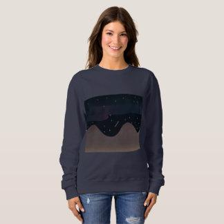 オーロラのデザインの女性の濃紺のスエットシャツ スウェットシャツ