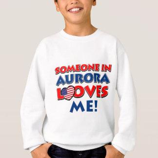 オーロラのデザイン スウェットシャツ