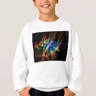 オーロラのリボン、抽象的な虹のベール スウェットシャツ