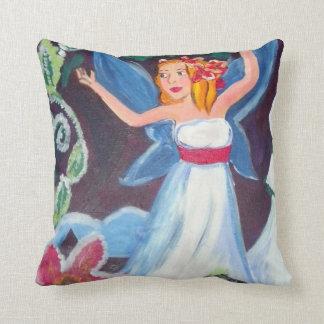 オーロラの冬の妖精の枕 クッション