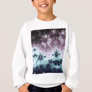 オーロラの夜空のフラクタル スウェットシャツ